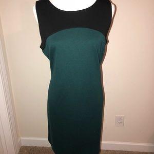 Apt 9 black and green sleeveless dress